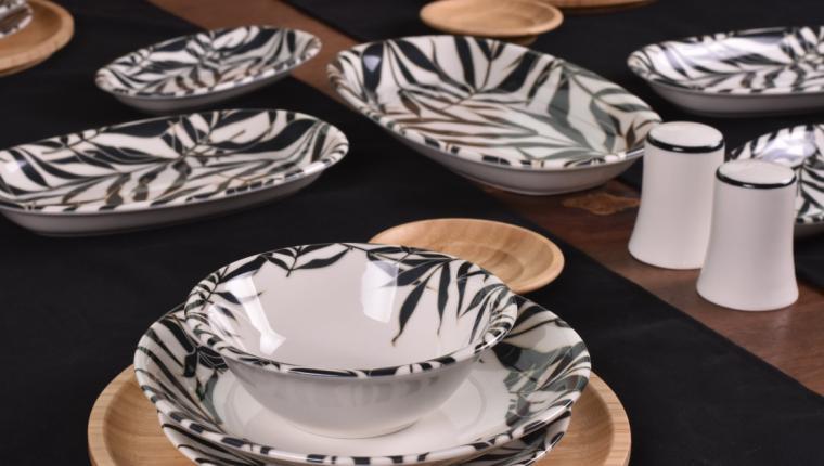 Bambunun Doğallığı Porselen Yemek ve Kahvaltı Takımları ile Birleşti