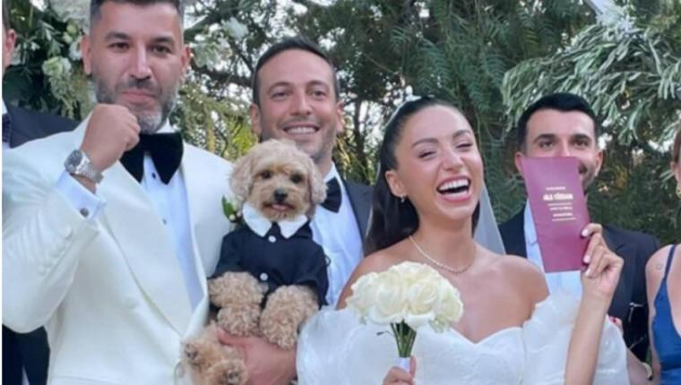 Zeynep Bastık ile Tolga Akış evlendi! İşte düğünden ilk kareler…